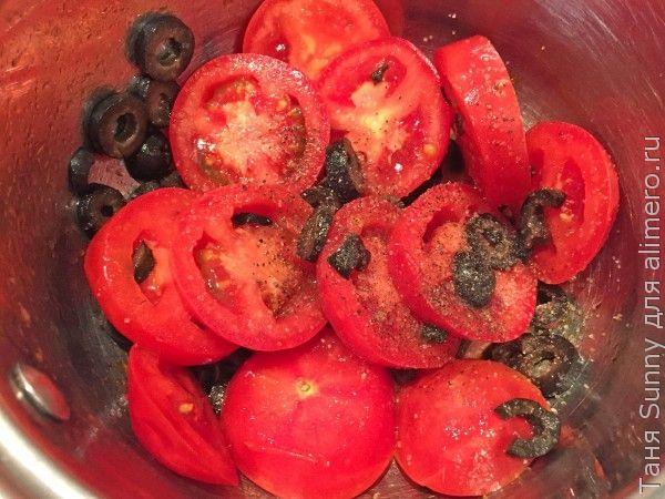 Жареная камбала с сальсой из помидоров