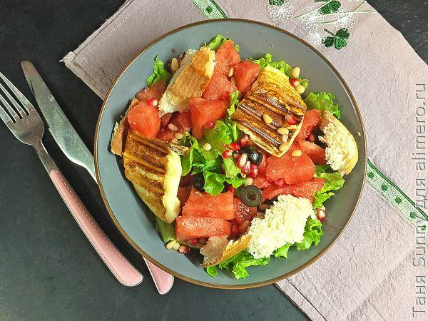 Салат с арбузом и сыром