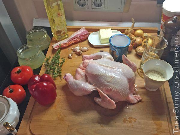 Тушеная курица в стиле басков