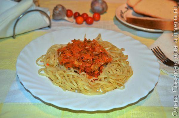 Овощная икра отличная добавка к спагетти