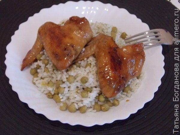 Крылышки с соевым соусом и медом