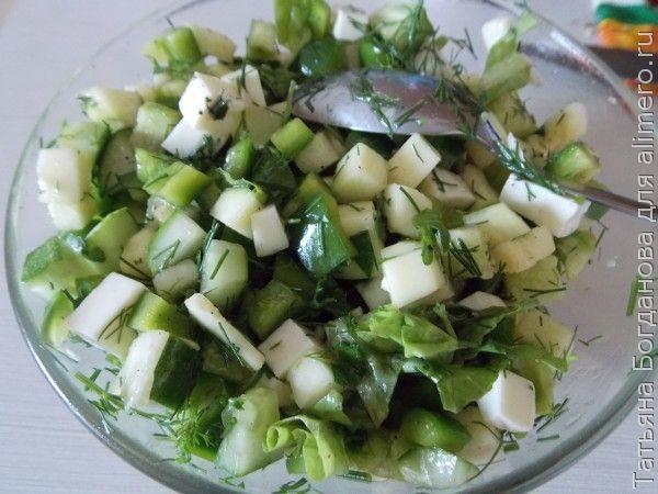 Салат со свежим кабачком