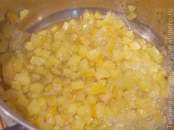 Варенье из кабачка с лимоном