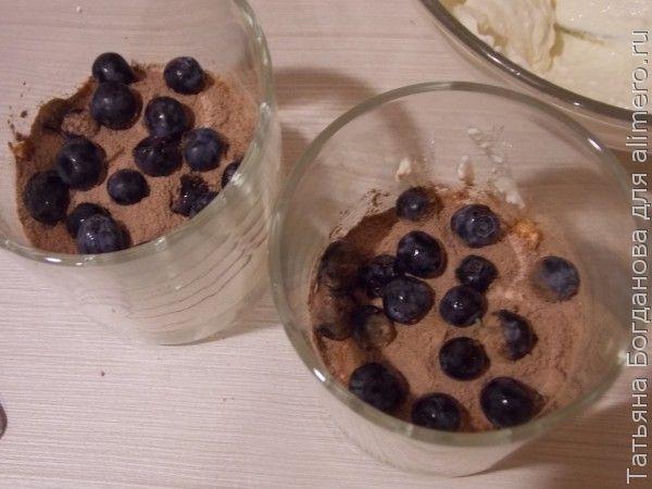 Творожный десерт с голубикой