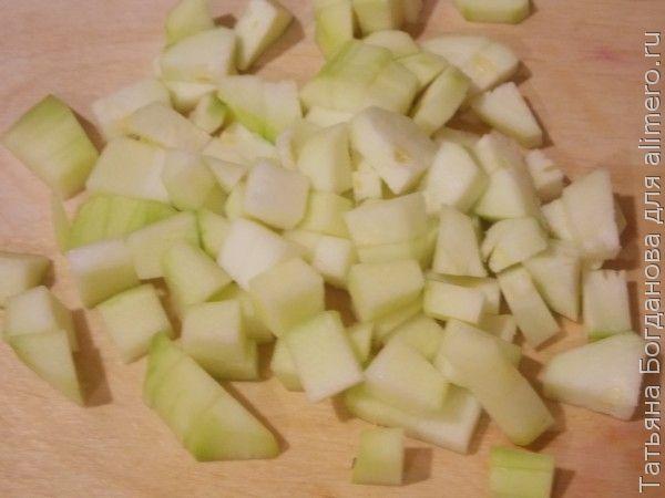 макароны-ракушки с кабачком