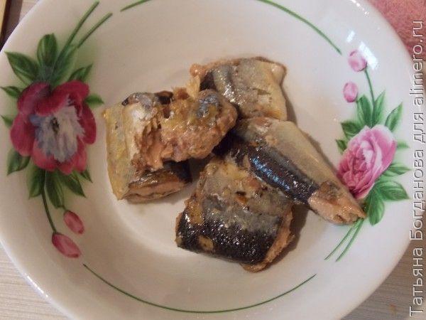 Макароны с рыбными консервами