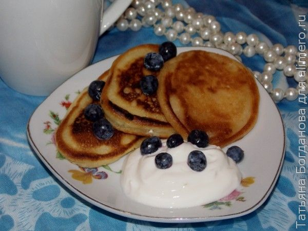 Оладьи на кислом молоке без яиц