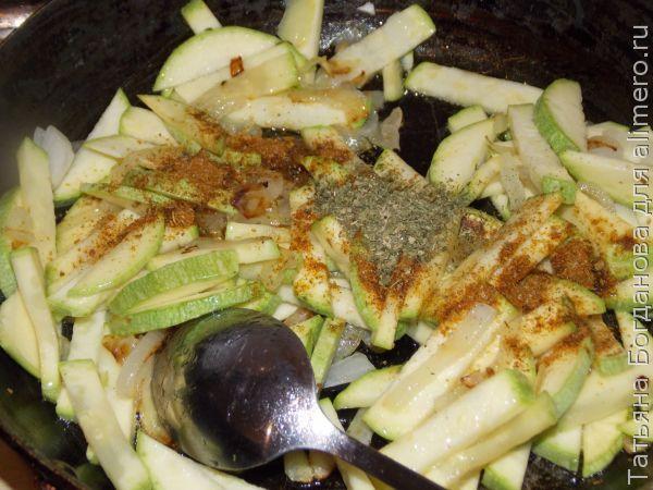 макароны с кабачком