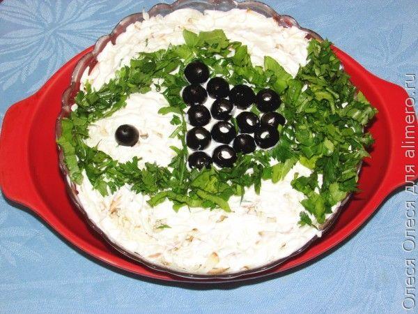 Салат со шпротами «Рыбонька»
