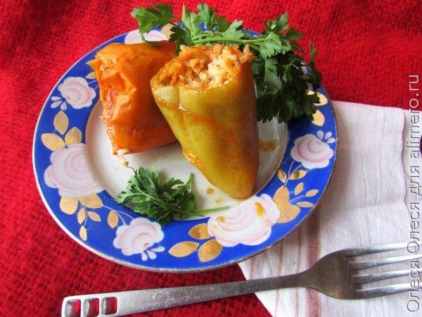 Консервированные перцы, фаршированные мясом и рисом