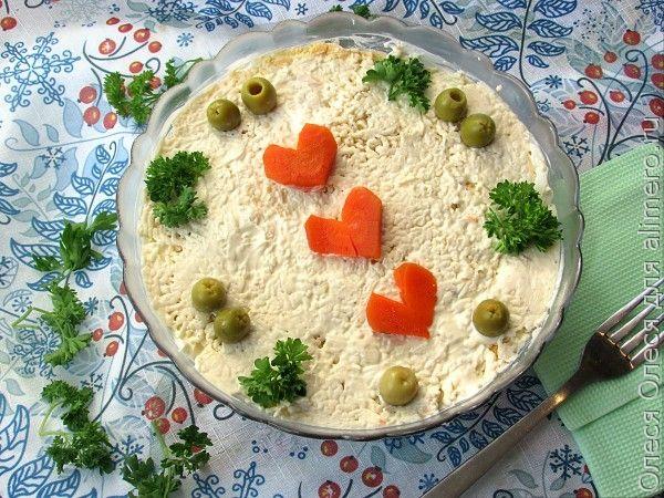 Салат с красной рыбой «Гламурная форелька»