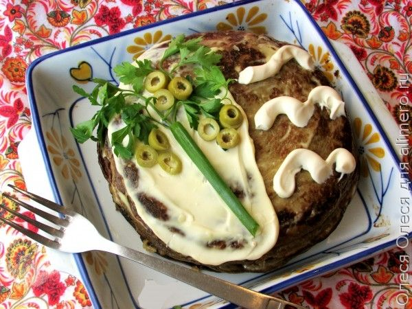 Печеночный торт «Улыбка негра под пальмой»