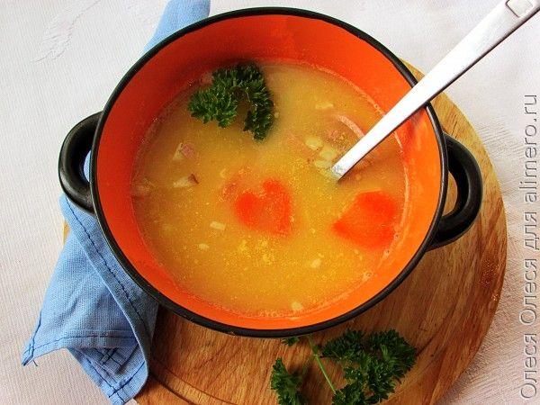 """Гороховый суп с копченостями и тыквой. Бонус """"Сердечный"""" мастер-класс"""