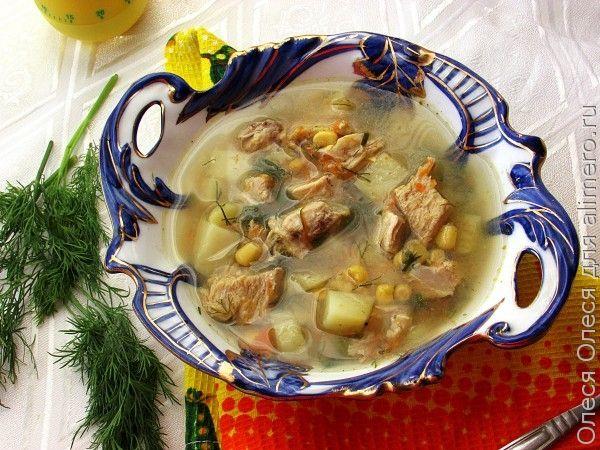 Простой суп с кукурузой