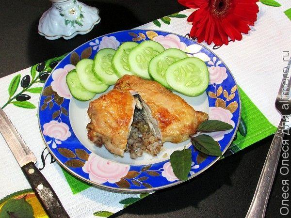 Куриные кармашки с гречкой