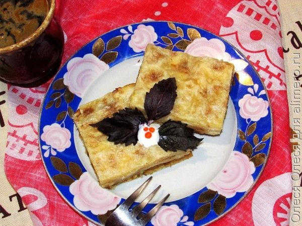 пирог из лаваша