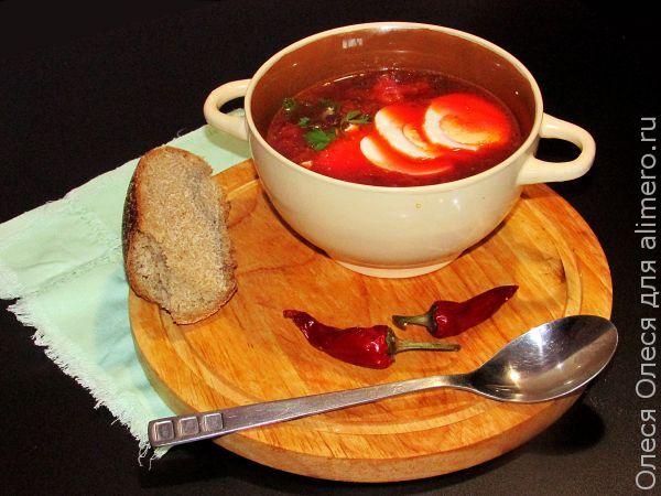 Суп свекольник пошаговое фото