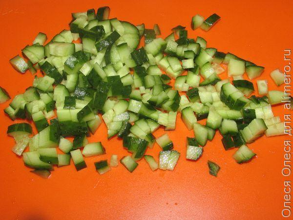 салат с авокадо и раковыми шейками рецепт