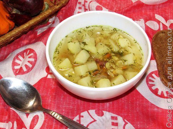 рецепты супов из свинины и крупой