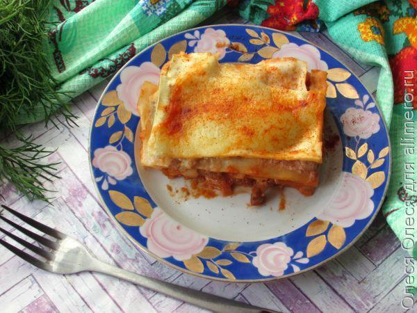 Лазанья рецепт с фаршем и сыром 54