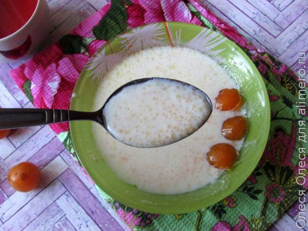 молочный суп из кукурузной крупы