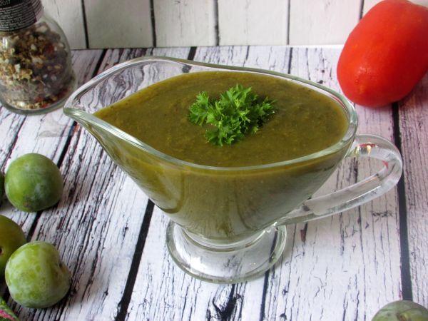 Ткемали из зеленых слив без кинзы, рецепты с фото