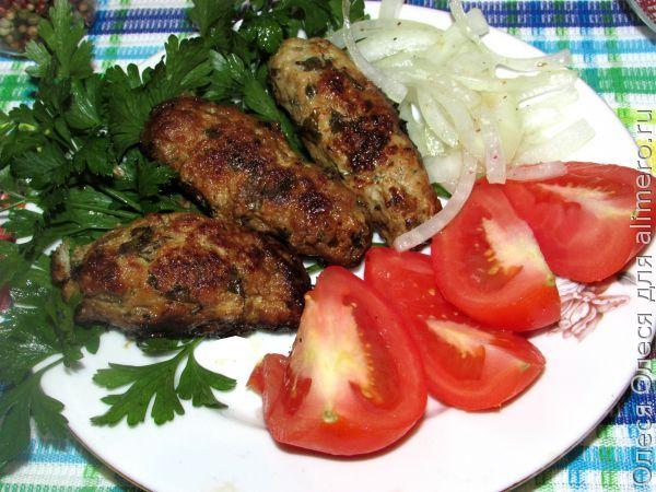 Люля кебаб в духовке с картошкой