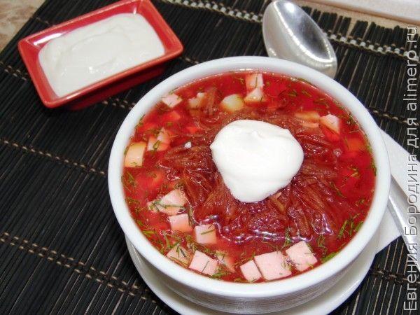 литовский холодный борщ с колбасой рецепт фото