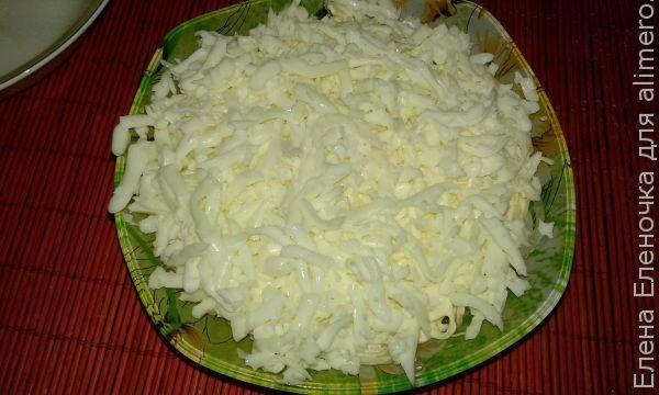 Рецепт салата с мясом, луком и яйцами