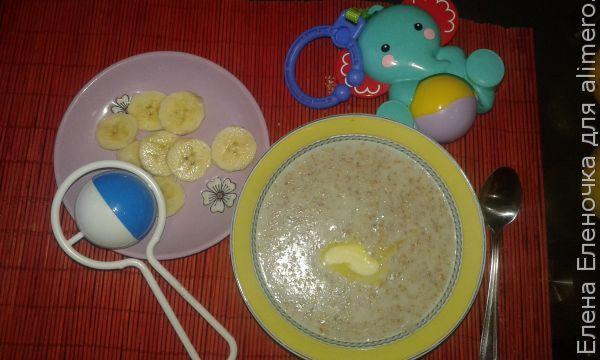 Рецепт пшеничной каши с бананом