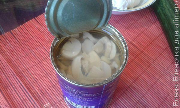 салат-коктейль с морскими гребешками