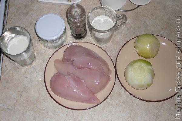 Молочная подлива с курицей