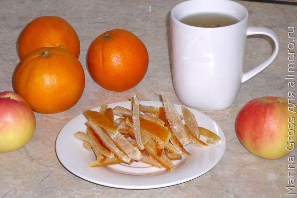 Апельсиновые цукаты без масла.