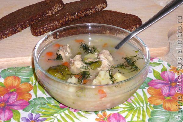 Суп с пшеничными отрубями