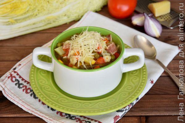 Минестроне - итальянский густой суп. Рецепт с беконом