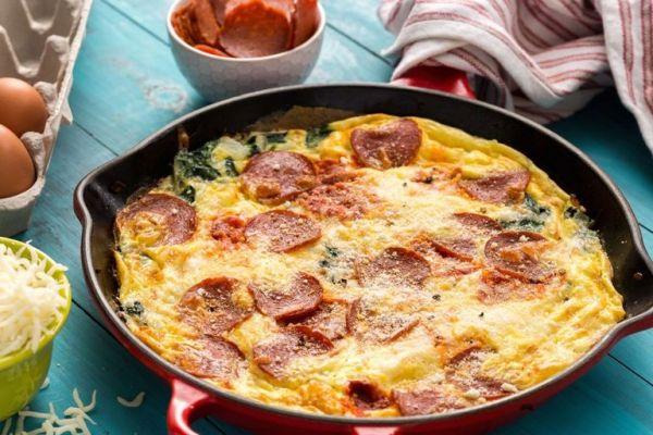 Богатый итальянский омлет в духовке