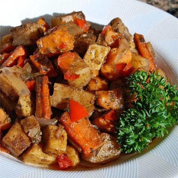 вкусные овощи в духовке рецепт